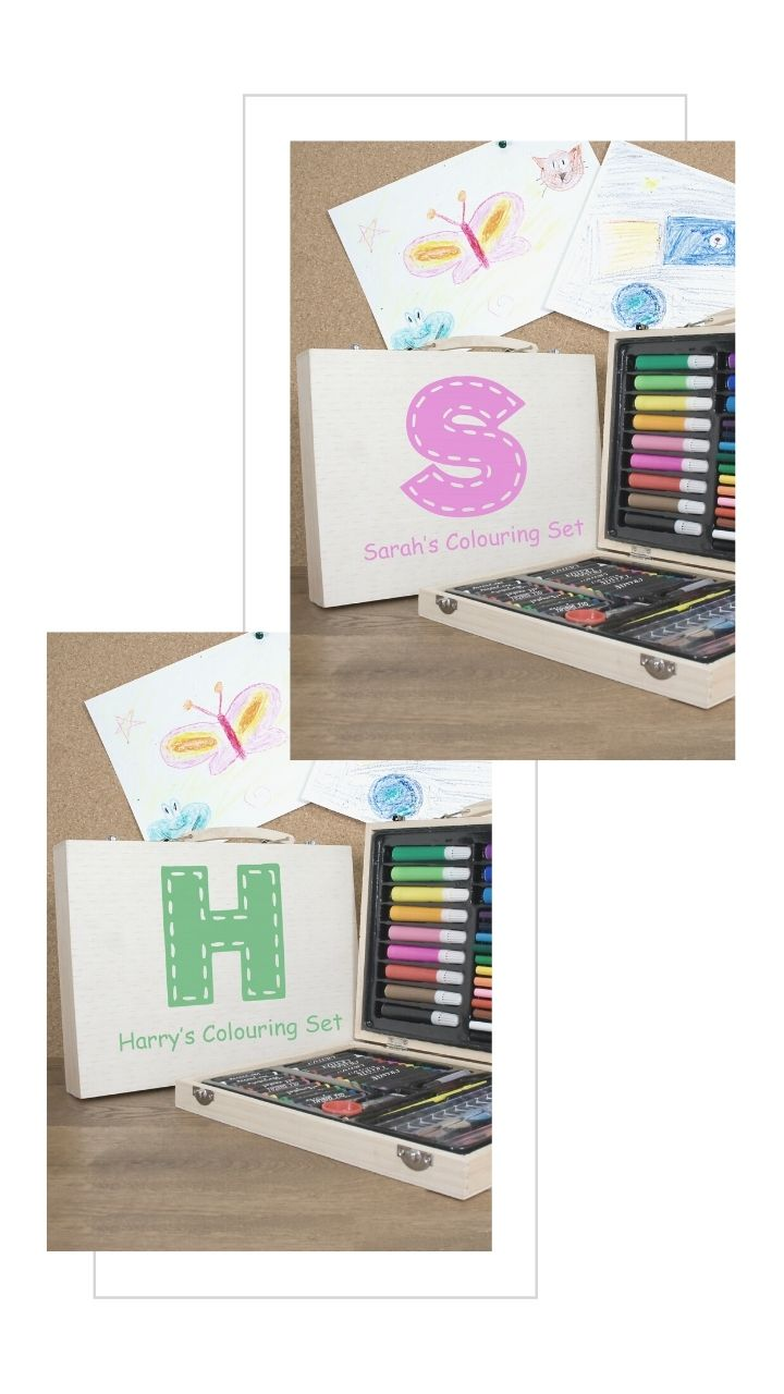 personalised colouring sets