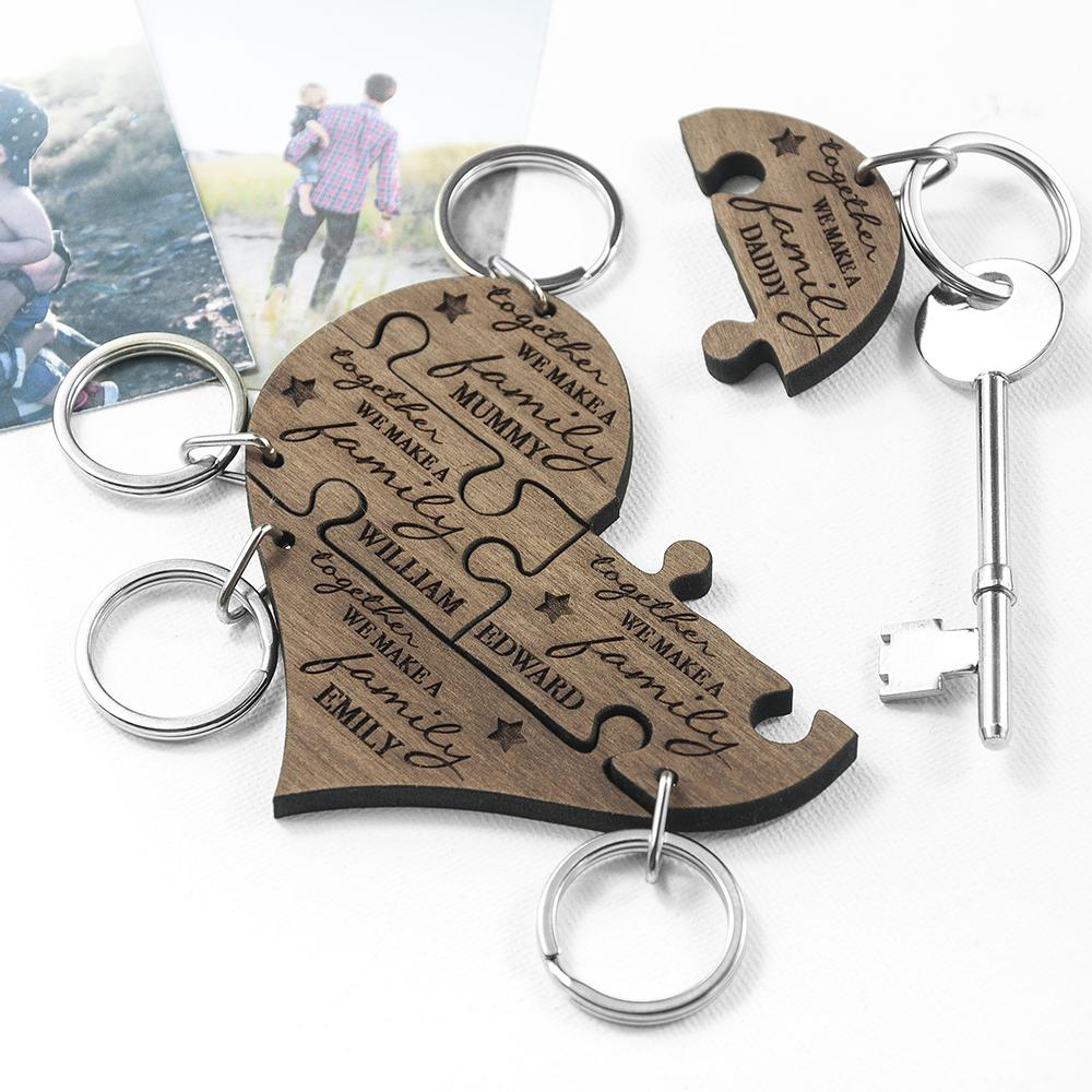 personalised keyrings for the whole family