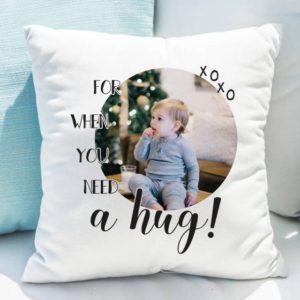 Personalised 'Need A Hug' Photo Upload Cushion