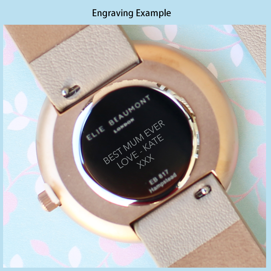 Personalised Elie Beaumont Hampstead Pink Ladies Watch