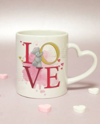 Personalised Me To You LOVE Heart Handled Mug