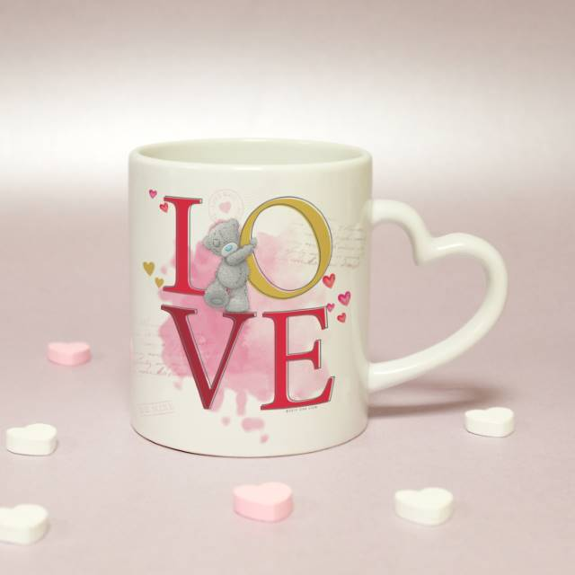 Personalised Me To You 'LOVE' Heart Handled Mug