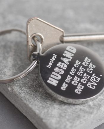 Personalised Bestest Husband Ever Ever Keyring
