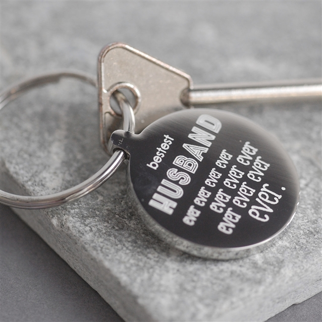 Personalised 'Bestest Husband Ever Ever' Keyring