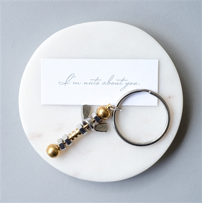 'Nuts About You' Keyring