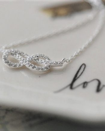 Infinity Cubic Zirconia Necklace