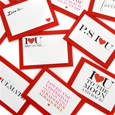 Five Mini Love Quote Cards