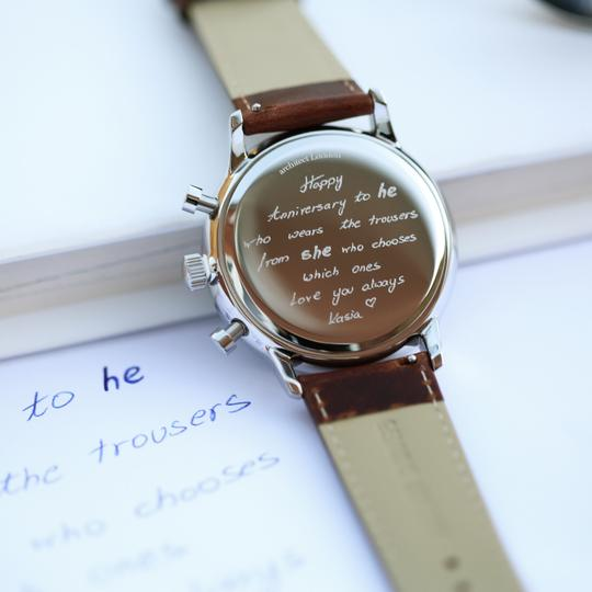 Personalised Own Handwriting Men's Architect Motivator Watch