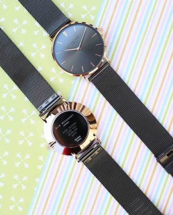Personalised Elie Beaumont Dark Grey Ladies Watch