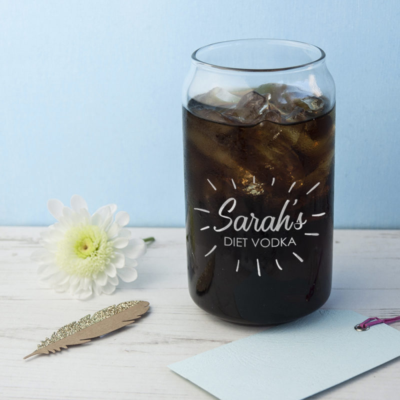 Personalised 'The Perfect Mix' Can Glass