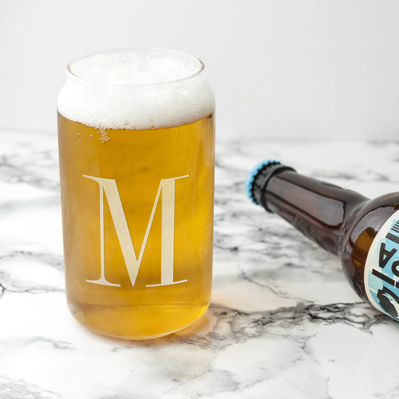 Personalised Monogram Can Glass