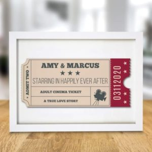 Cinema Ticket A4 Framed Print