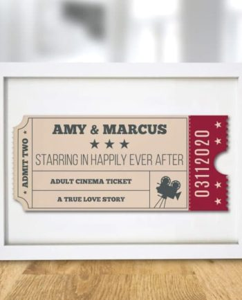 Cinema Ticket A4 Framed Print