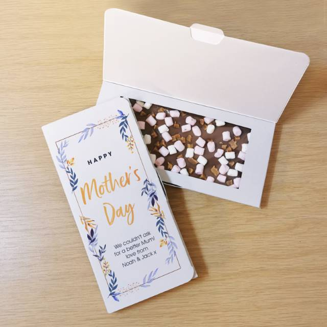 Personalised 'Mother's Day' White Chocolate Card