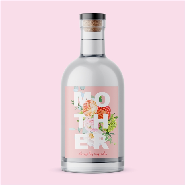 Personalised 'Mother' Floral Gin