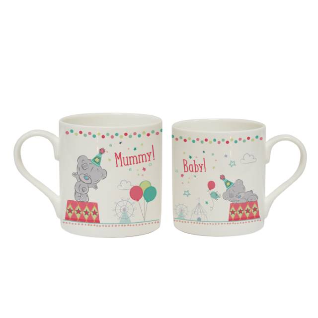 Personalised Tiny Tatty Teddy 'Mummy & Little One' Mug Set