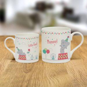 Personalised Tiny Tatty Teddy Mummy & Little One Mug Set