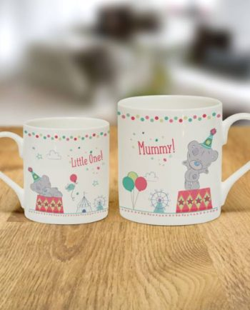 Personalised Tiny Tatty Teddy Mummy & Little One Mug Set