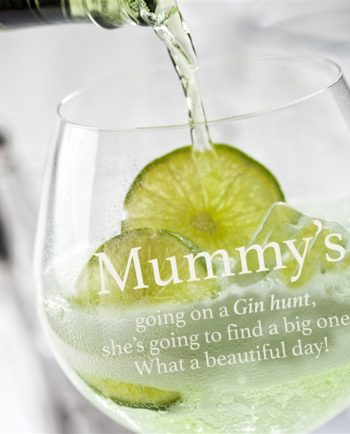 Personalised Gin Hunt Glass
