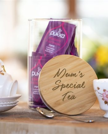 Personalised Glass Tea Jar