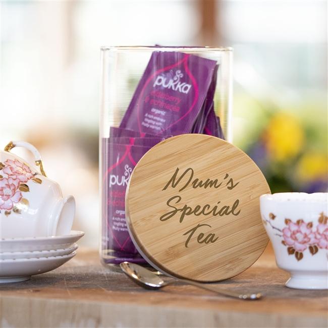 Personalised Glass Tea Jar