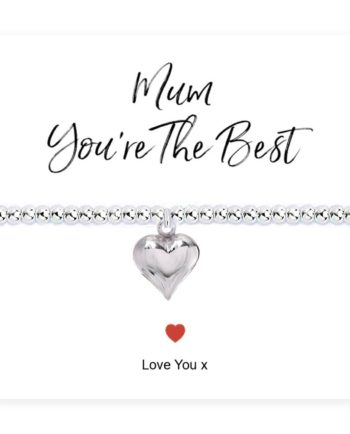 Mum You're The Best Stretch Beaded Bracelet & Card