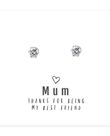 Mum Best Friend Earrings and Sentiments Card