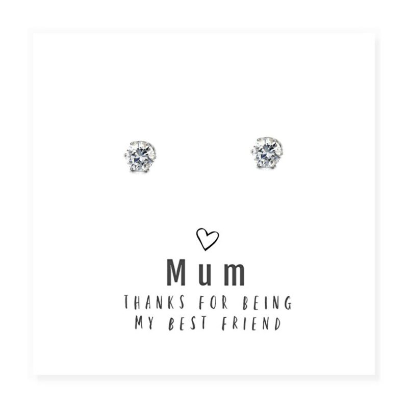 'Mum Best Friend' Earrings and Sentiments Card