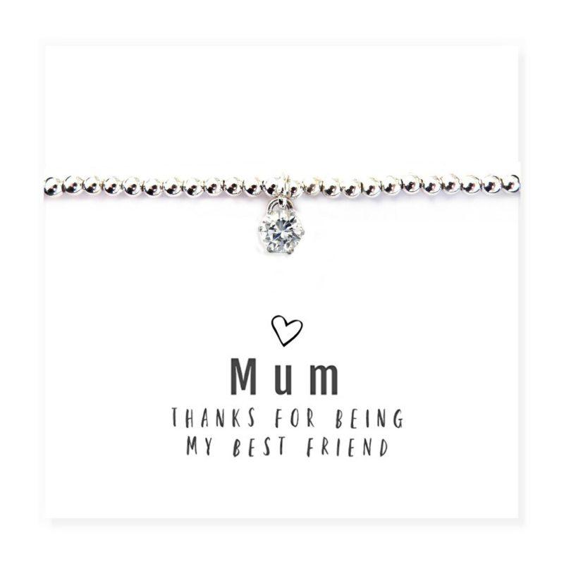 'Mum Best Friend' Bracelet and Sentiments Card