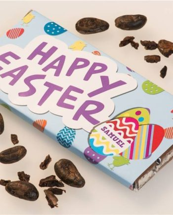 Personalised Happy Easter Chocolate Bar
