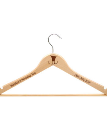 Personalised Mens Wooden Suit Hanger