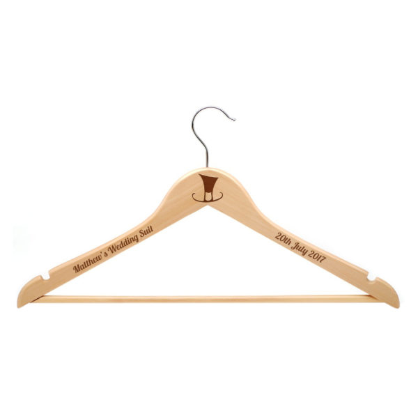 Personalised Mens Wooden Suit Hanger