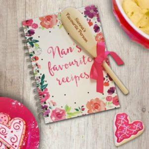 Personalised Nan's Favourite Recipe Book & Wooden Spoon