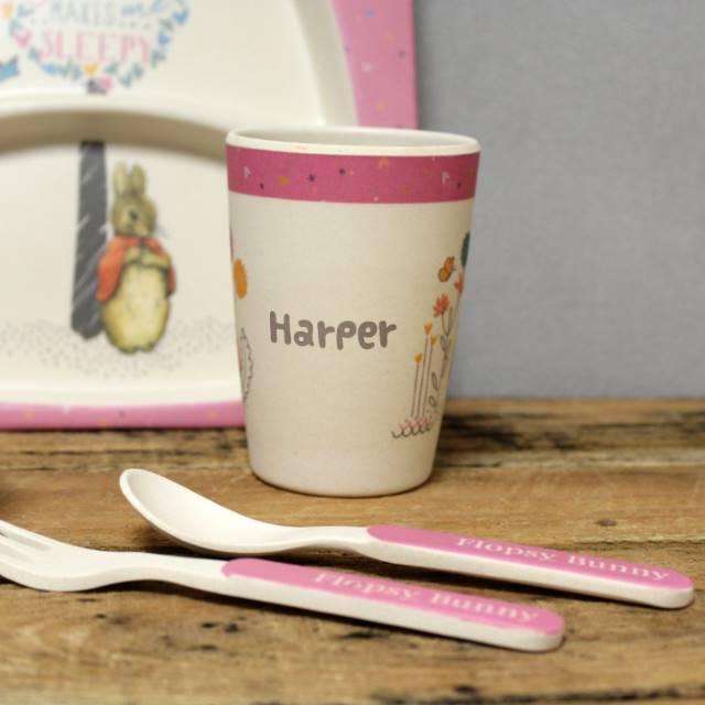 Personalised Flopsy Bamboo Breakfast Set