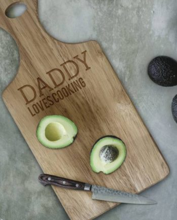 Personalised Wooden Paddle Chopping Board
