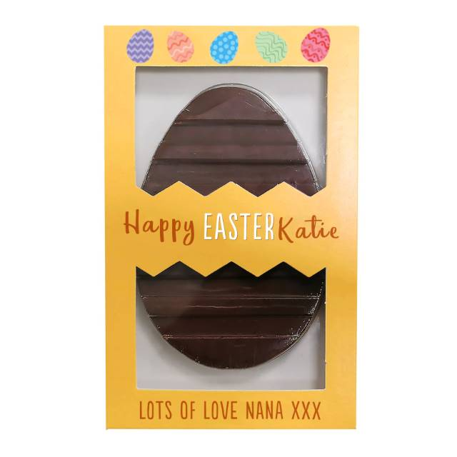 Personalised Letterbox 'Happy Easter' Chocolate Egg