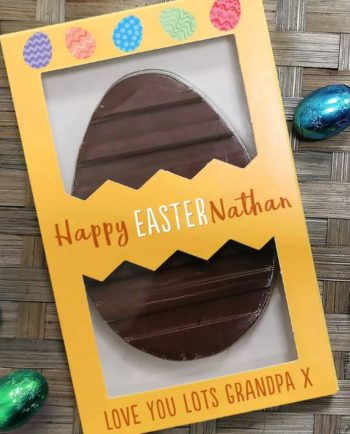 Personalised Letterbox Happy Easter Chocolate Egg