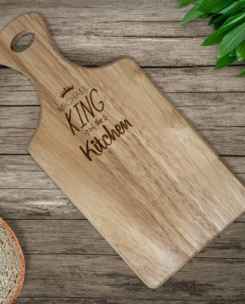 Personalised King of the Kitchen Paddle Chopping Board