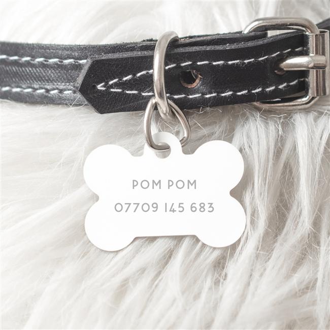 Personalised Steel Dog Bone Dog ID Tag