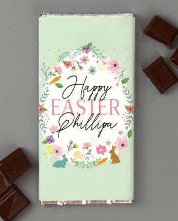Personalised Easter Springtime Milk Chocolate Bar