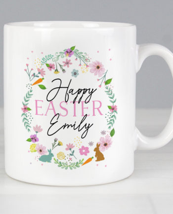 Personalised Happy Easter Springtime Ceramic Mug