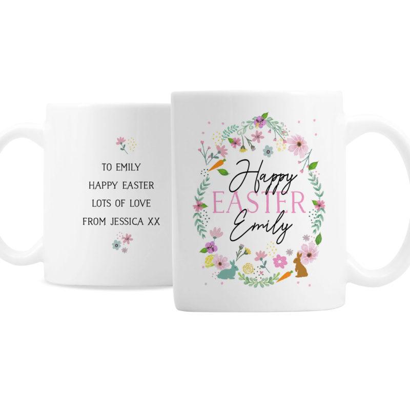 Personalised Happy Easter Springtime Ceramic Mug