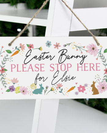 Personalised Easter Bunny Wooden Sign