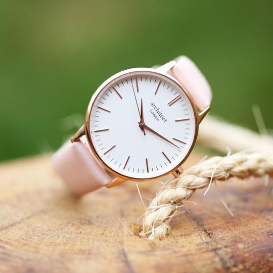 Personalised Own Handwriting Ladies Architēct Blanc Watch