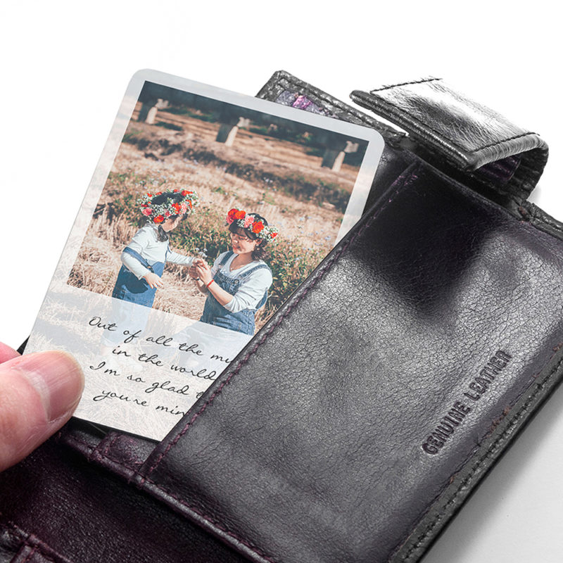 Personalised 'Mum's' Metal Wallet Photo Keepsake