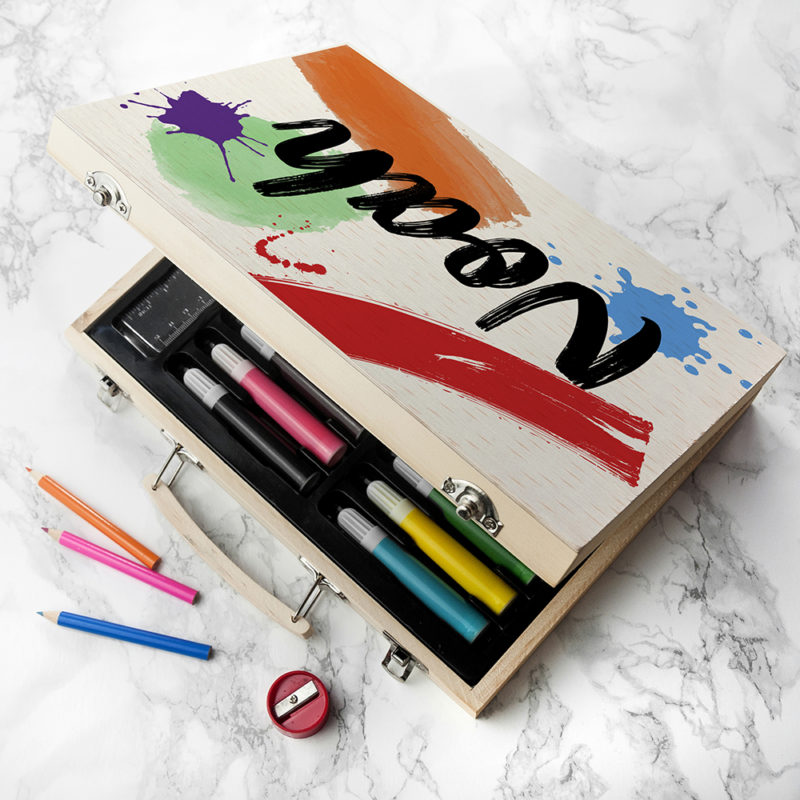 Personalised 'Colour Splash' Children's Drawing Set
