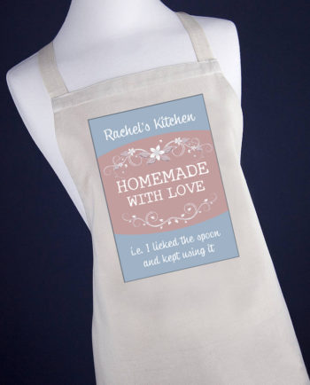Personalised Homemade With Love Apron