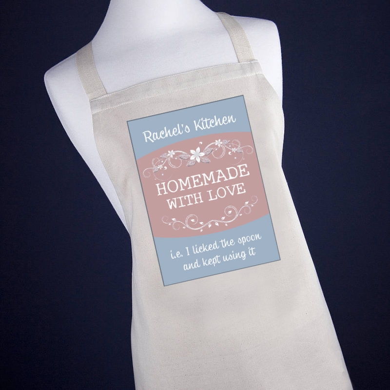 Personalised 'Homemade With Love' Apron