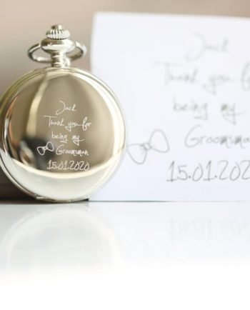 Own Handwriting Dual Opening Pocket Watch