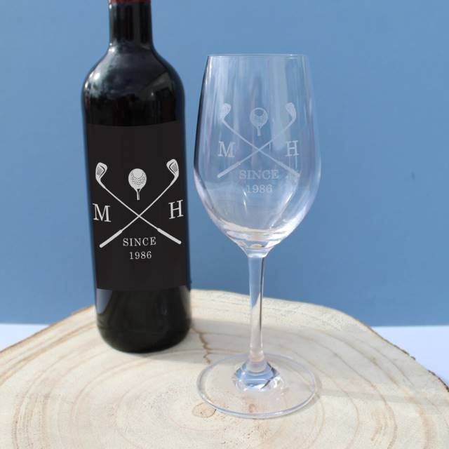 Personalised Golf Red Wine Gift Set